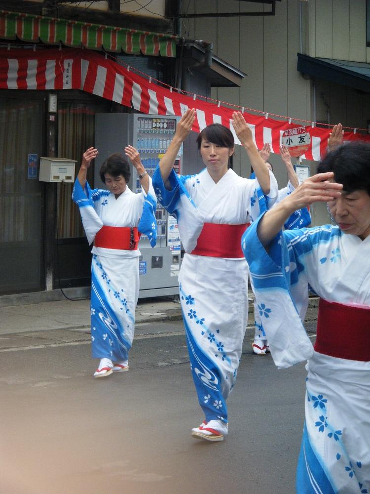 2015年、ついに裕美氏が小友祭りに出場。