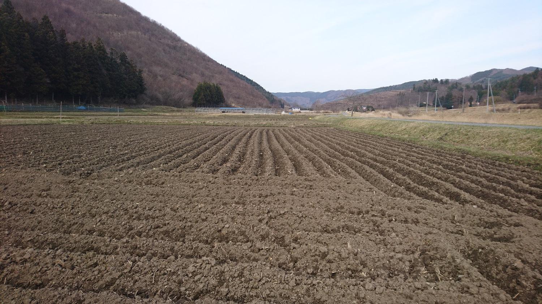 2018年4月 春の田起こし「二山耕起」。