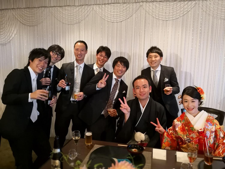 2018年10月 大学の友人の結婚式。