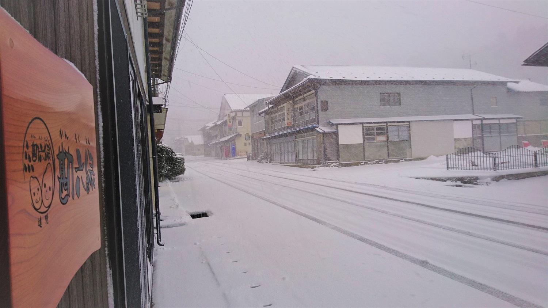 朝起きたら、そこは吹雪の小友銀座でした。