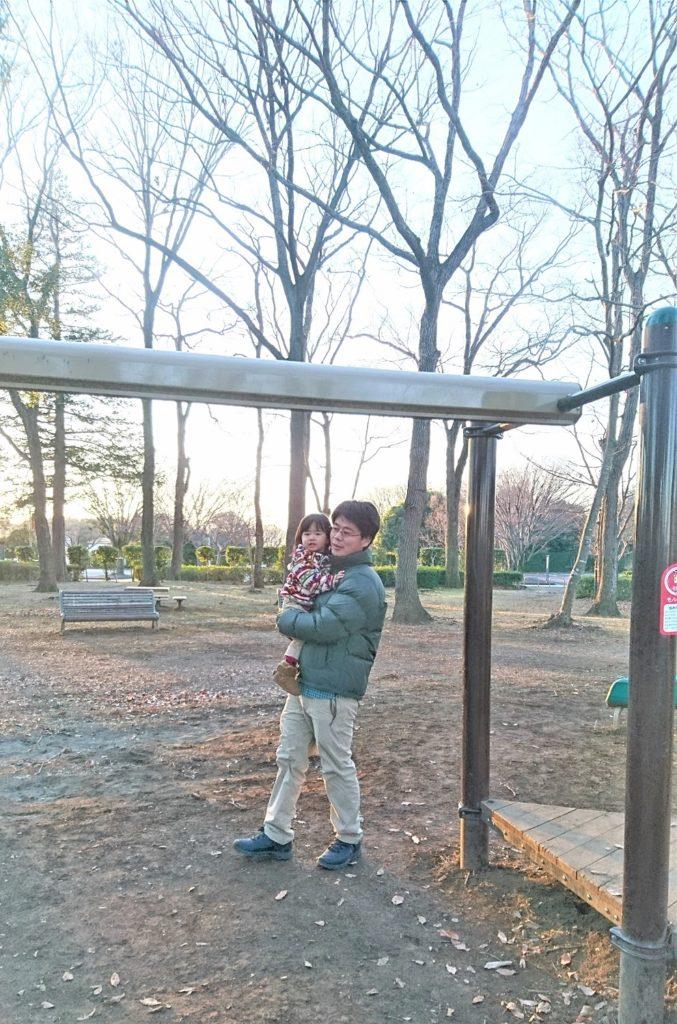 懐かしの公園と陽佑と娘。