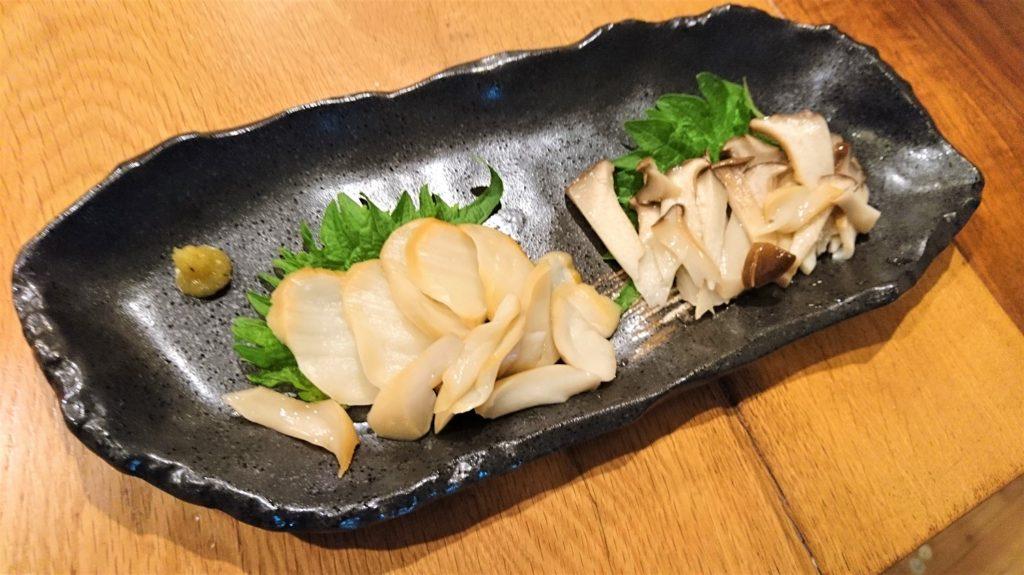 アワビかしら!?と思える美味しいお刺身風エリンギ。